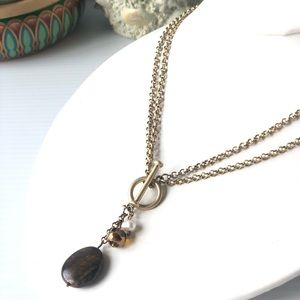 Jewelry - Tiger Eye and Pearl Necklace